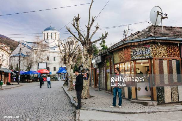 serbian orthodox cathedral of saint george in prizren - dafos stock photos and pictures