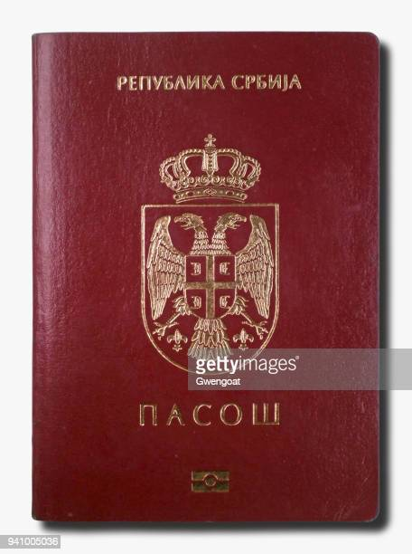 serbian passport isolated on a white background - gwengoat stock pictures, royalty-free photos & images