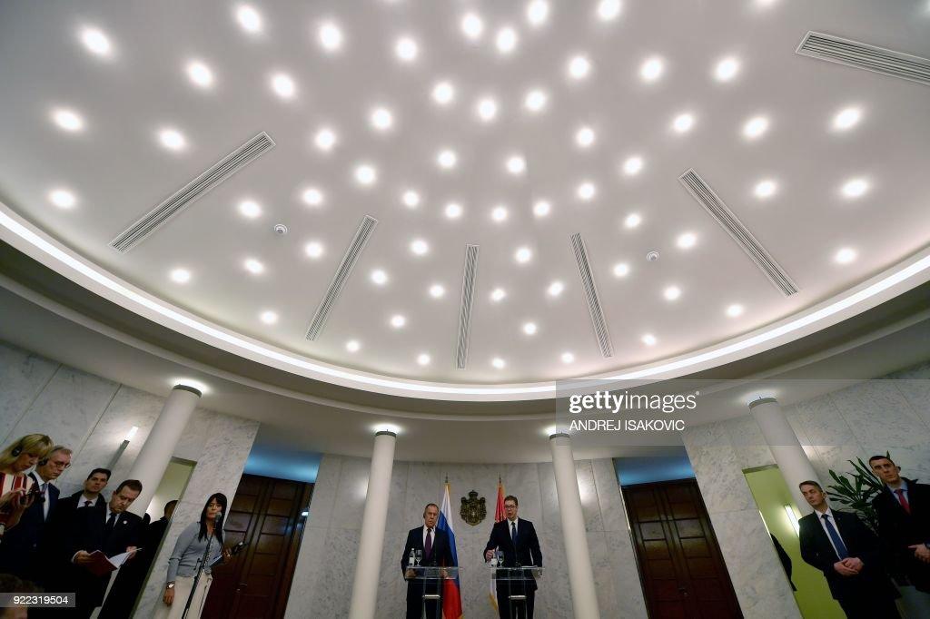 SERBIA-RUSSIA-DIPLOMACY : News Photo