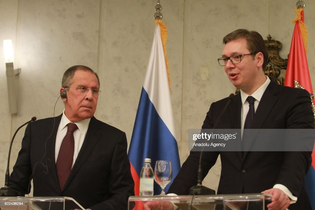 Sergey Lavrov - Aleksandar Vucic joint press conference in Belgrade : Fotografía de noticias