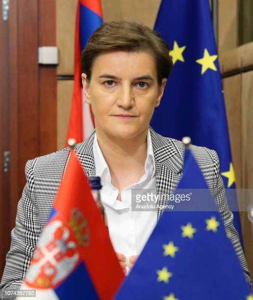 Serbian Prime Minister Ana Brnabic and High Representative of the European Union for Foreign Affairs and Security Policy Federica Mogherini attend...