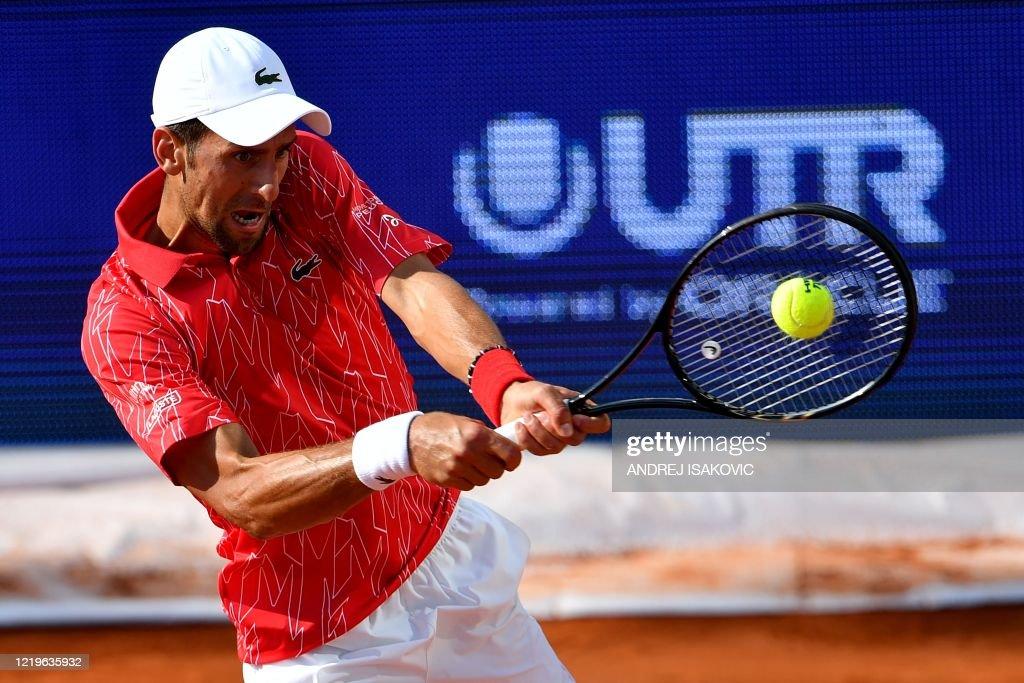 Serbian Tennis Player Novak Djokovic Returns The Ball To Serbian News Photo Getty Images