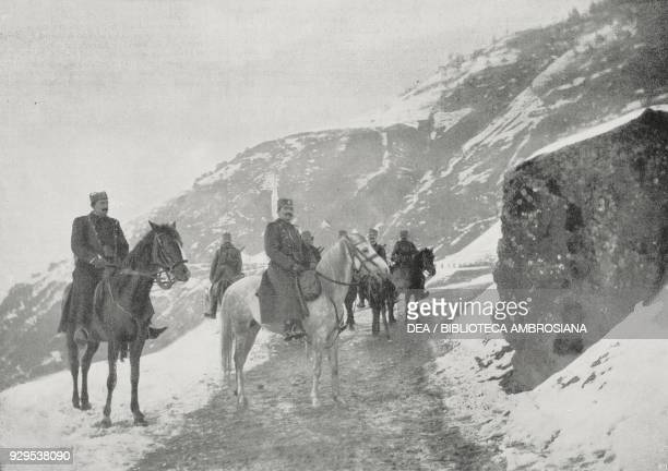 Serbian vanguard at the Bosnian borders Serbia photograph by S Tchernoff from L'Illustrazione Italiana Year XLI No 51 December 20 1914