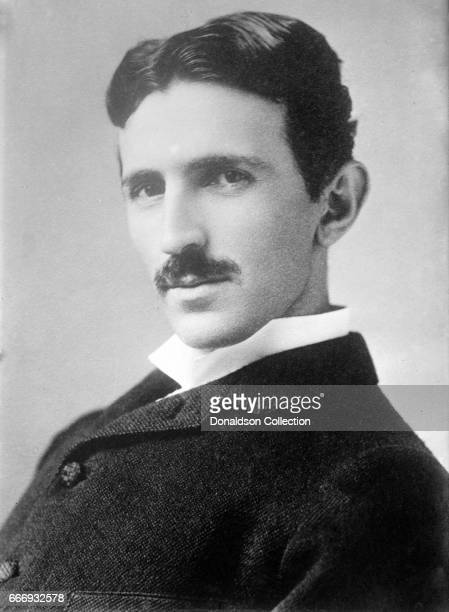 Serbian-American inventor and engineer Nikola Tesla aged 34, circa 1890. Photograph by Napoleon Sarony