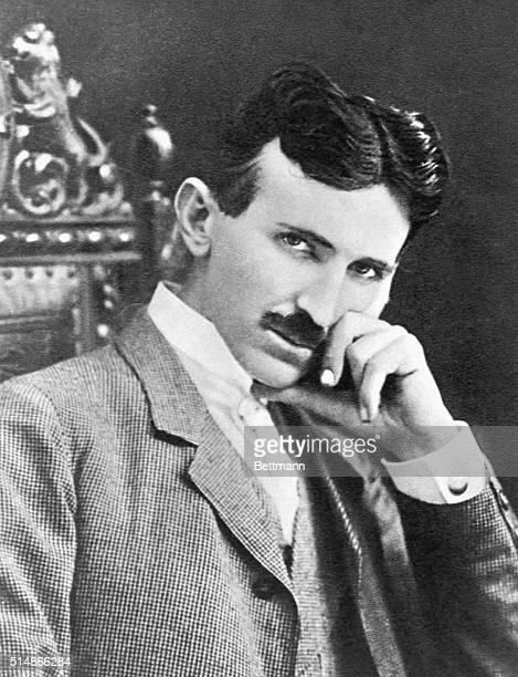 Serbian-American inventor, engineer and futurist Nikola Tesla , aged 40, circa 1896.