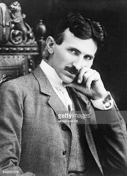 Serbian-American inventor, engineer and futurist Nikola Tesla aged 40, circa 1896.