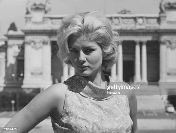 SerbianItalian actress Beba Loncar out and about in Rome Italy 11st September 1964