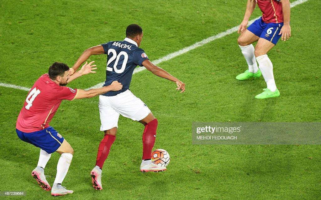 FBL-EURO-2016-FRA-SRB-FRIENDLY : News Photo