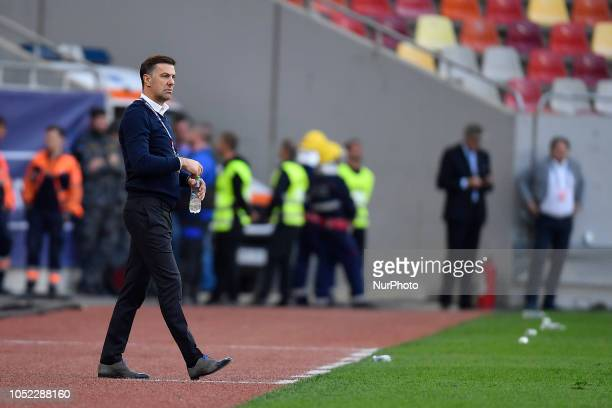 Serbia's head coach Mladen Krstajic reacts during the UEFA Nations League league 4 group 4 soccer match between Romania and Serbia at the National...
