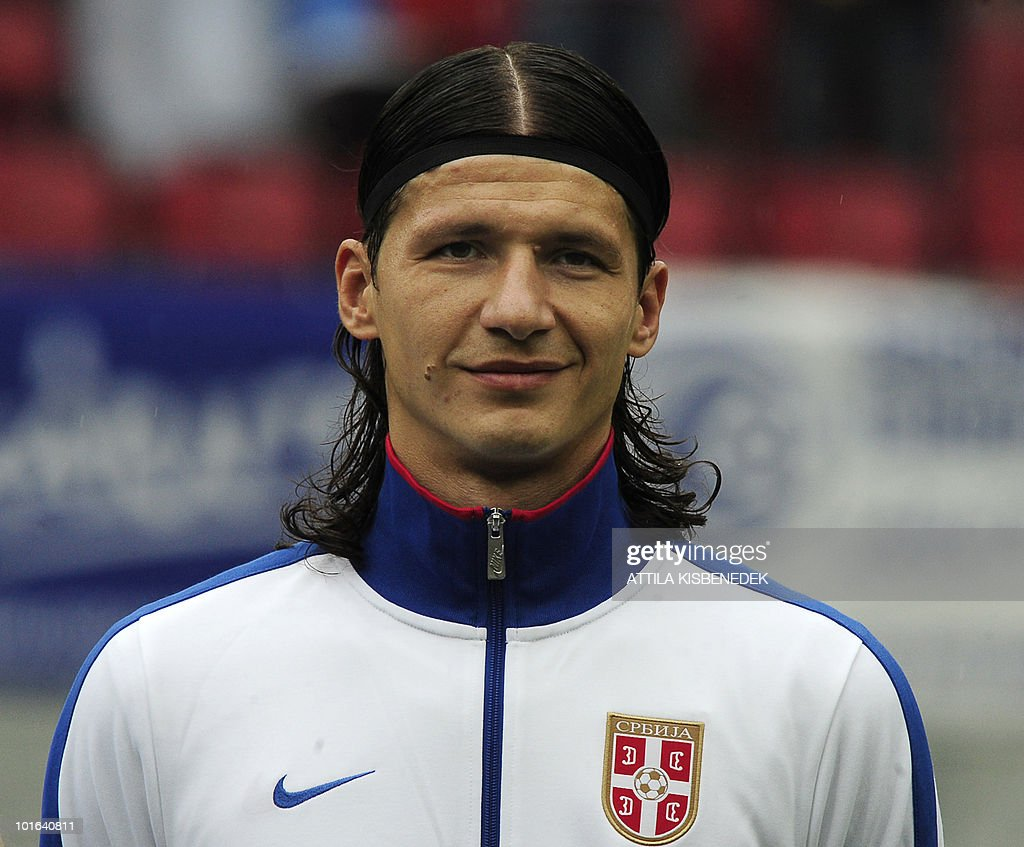 Serbia's Marko Pantelic is pictured prior to their friendly match against New Zealand in the Hypo Arena Wörthersee Stadium of Klagenfurt on May 29, 2010 prior to the FIFA World Cup 2010 hosted by South Africa between June 11th till July 11th. New Zealand won 1-0.