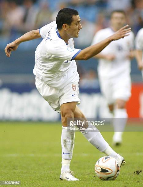 Serbia's player bosko Jankovic in action during UEFA European Championship Under 21 semifinals match between Belgium U21 and Serbia U21 Netherlands...