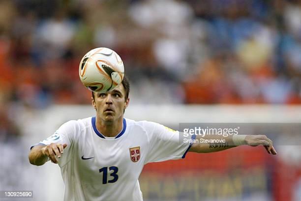 Serbia's player Nikola Drincic in action during UEFA European Championship Under 21 semifinals match between Belgium U21 and Serbia U21 Netherlands...