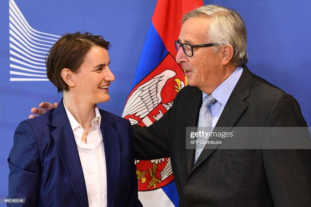 BELGIUM-EU-SERBIA : News Photo