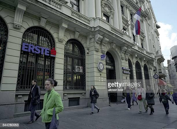 Serbien Belgrad Filiale 'Erste Bank'