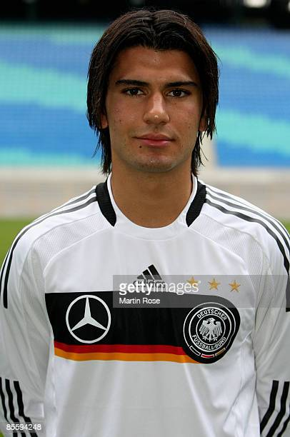 Serda Tasci of Germany line up for a team photo during the official team picture at Zentral stadium on March 25, 2009 in Leipzig, Germany.