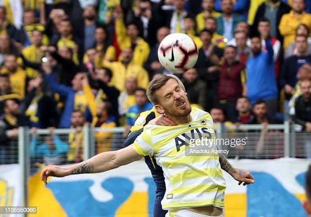 Serdar Aziz of Fenerbahce vies for the ball during Turkish Super Lig soccer match between MKE Ankaragucu and Fenerbahce at Eryaman Stadium in Ankara...