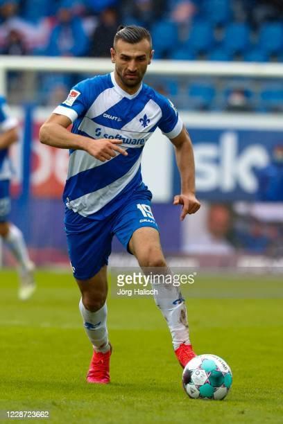 Serdar Dursum of SV Darmstadt 98 during the Second Bundesliga match between SV Darmstadt 98 and SSV Jahn Regensburg at Jonathan-Heimes-Stadion am...