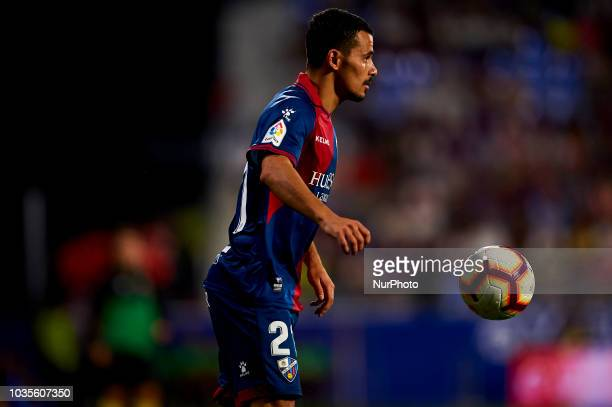 Serdar Gurler controls the ball during the match between SD Huesca against Rayo Vallecano at Alcoraz Stadium in Huesca Spain on September 14 2018