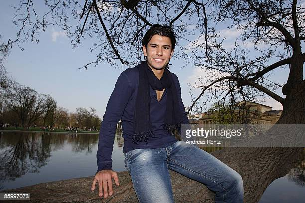 ACCESS Serdar Tasci of VfB Stuttgart is pictured during a portrait shoot on April 6 2009 in Stuttgart Germany