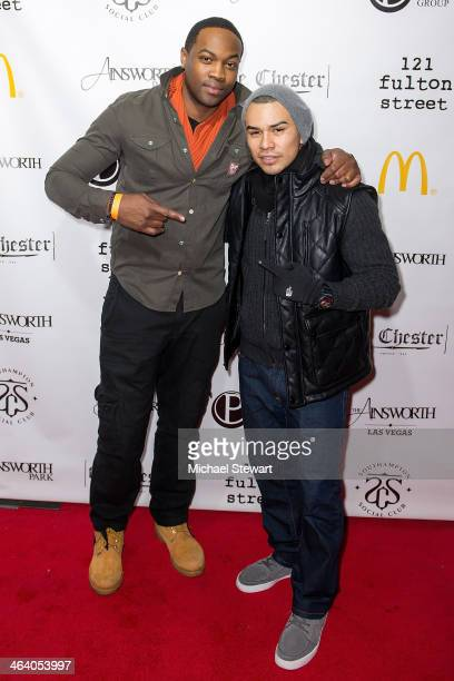 Ser'Darius Blain and JJ Soria attend Paige Hospitality Group's Third Annual Sundance Football Game Watch on January 19 2014 in Park City Utah