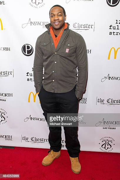 Ser'Darius Blain attends Paige Hospitality Group's Third Annual Sundance Football Game Watch on January 19 2014 in Park City Utah