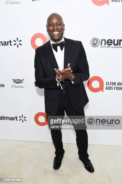 Ser'Darius Blain attends the 28th Annual Elton John AIDS Foundation Academy Awards Viewing Party sponsored by IMDb, Neuro Drinks and Walmart on...