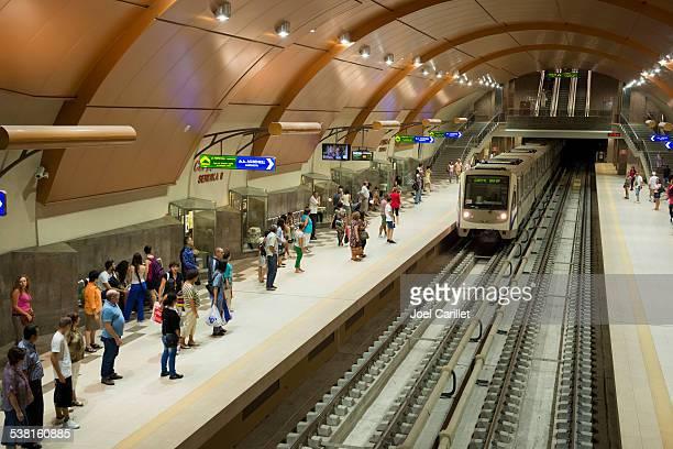 serdika ii metro station in sofia bulgaria - sofia stock pictures, royalty-free photos & images
