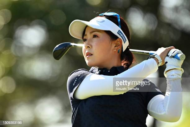 Serena Aoki of Japan hits her tee shot on the 2nd hole during the second round of the AXA Ladies Golf Tournament at the UMK Country Club on March 27,...