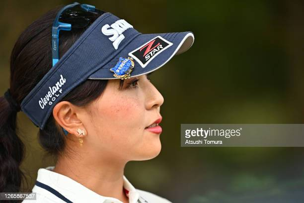 Serena Aoki of Japan is seen during a practice round ahead of the NEC Karuizawa 72 Golf Tournament at the Karuizawa 72 Golf Kita Course on August 13,...