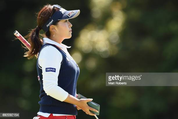 Serena Aoki of Japan looks on during the final round of the Yonex Ladies Golf Tournament 2016 at the Yonex Country Club on June 4 2017 in Nagaoka...
