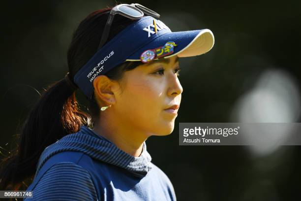 Serena Aoki of Japan looks on during the first round of the Higuchi Hisako Ponta Ladies at the Musashigaoka Golf Course on October 27 2017 in Hanno...