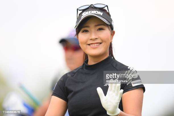 Serena Aoki of Japan smiles during the second round of the Panasonic Open at Hamano Golf Club on May 04, 2019 in Ichihara, Chiba, Japan.