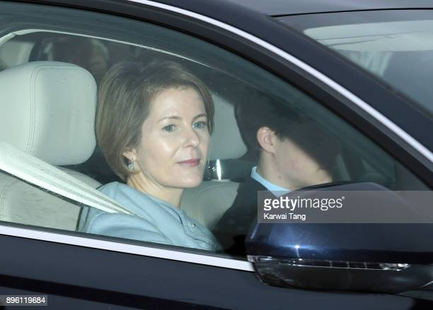 Serena ArmstrongJones attends a Christmas lunch for the extended Royal Family at Buckingham Palace on December 20 2017 in London England