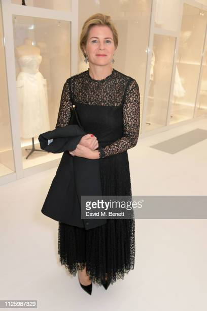 Serena ArmstrongJones Countess of Snowdon attends a gala dinner celebrating the opening of the Christian Dior Designer of Dreams exhibition at The VA...