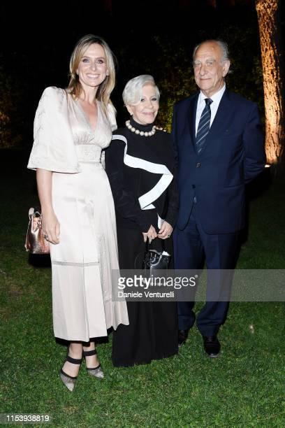 Serena Autieri Anna Fendi and Giuseppe Tedesco attends the McKim Medal Gala 2019 at Villa Aurelia on June 05 2019 in Rome Italy
