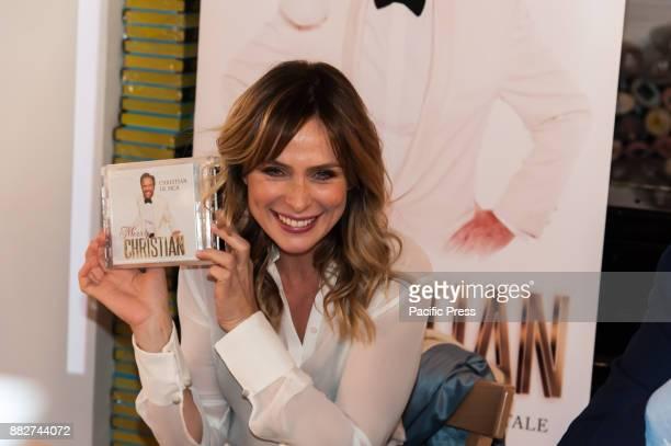 LA FELTRINELLI NAPLES ITALY/ CAMPANIA ITALY Serena Autieri famous Italian actress during the presentation of the album 'Merry Christian' by Christian...