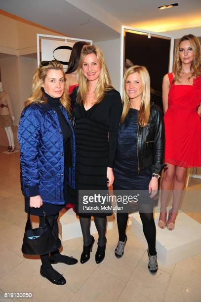 Serena Boardman Annelise Peterson and Lesley Schulhof attend VALENTINO Spring/ Summer 2010 Collection Private Luncheon and Presentation hosted by...