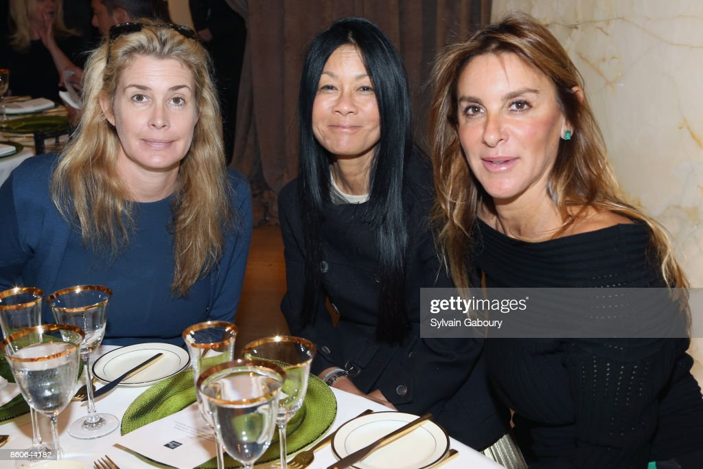 Serena Boardman, Helen Lee Schifter and Dori Cooperman attend Saks Fifth Avenue Luncheon to Benefit City Harvest at Saks Fifth Avenue on October 12, 2017 in New York City.