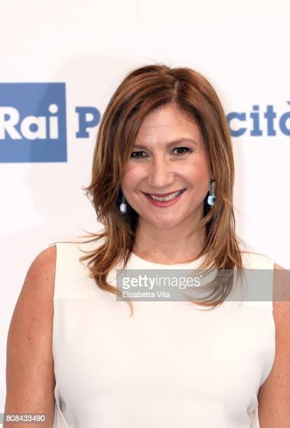 Serena Bortone attends the Rai Show Schedule Presentation In Rome on July 4 2017 in Rome Italy