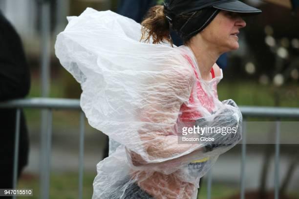 Serena Burla runs through Heartbreak Hill during the Boston Marathon in Newton Mass April 16 2018