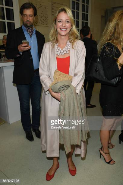 Serena CATTANEO ADORNO attends a cocktail in honour of Diana Widmaier Picasso and Alexander SC Rower awarded with the Chevalier and Officier de...