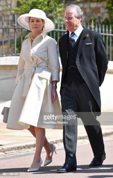 Serena Countess of Snowdon and David ArmstrongJones 2nd Earl of Snowdon attend the wedding of Prince Harry to Ms Meghan Markle at St George's Chapel...