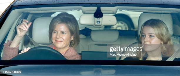 Serena Countess of Snowdon and Margarita ArmstrongJones attend a Christmas lunch for members of the Royal Family hosted by Queen Elizabeth II at...
