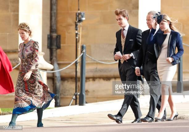 Serena Countess of Snowdon Charles ArmstrongJones Viscount Linley David ArmstrongJones 2nd Earl of Snowdon and Lady Margarita ArmstrongJones attend...