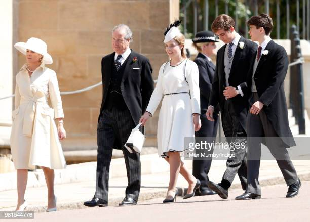 Serena Countess of Snowdon David ArmstrongJones Earl of Snowdon Margarita ArmstrongJones and Charles ArmstrongJones Viscount Linley attend the...