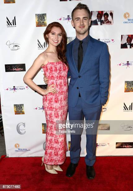 Serena Laurel and Austin Powell at the 4th Annual CC Teen Hollywood Film Festival at Raleigh Studios on November 11 2017 in Los Angeles California