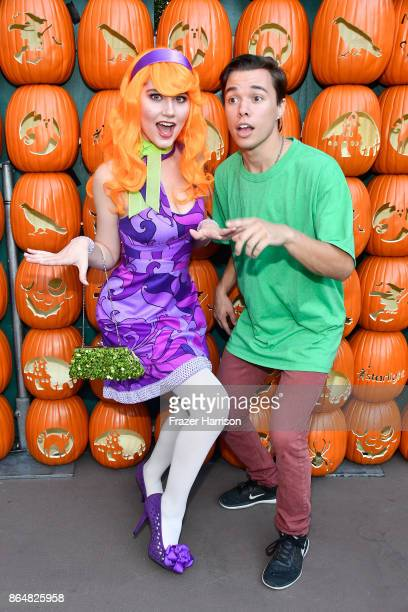 Serena Laurel and Colton Shires at the Dream Halloween 2017 Costume Party Benefitting Starlight Children's Foundation presented by Michaels and Aaron...