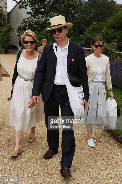 Serena Linley Daniel Chatto and Lady Sarah Chatto attend the Cartier Style Luxury Lunch during the Goodwood Festival of Speed at Goodwood on July 03...