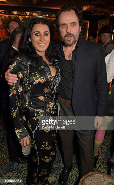 Serena Rees and Andreas Kronthaler attend the 'Country Town House Great British Brands' party at Annabel's on January 27 2020 in London England