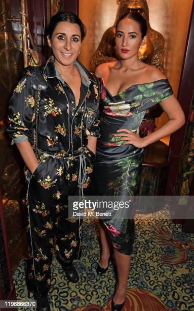 Serena Rees and Cora Corre attend the 'Country Town House Great British Brands' party at Annabel's on January 27 2020 in London England